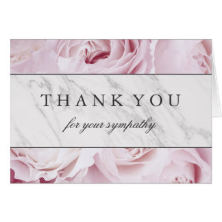 Thank You for Your Sympathy | Roses & Marble Card