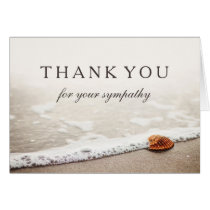 Thank You For Your Sympathy | Seashell on a Beach