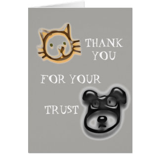 Thank You For Your Trust Pet Animal Business Card