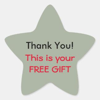 Thank You (Free Gift) Sticker