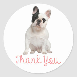 Thank You French Bulldog Puppy Dog Sticker