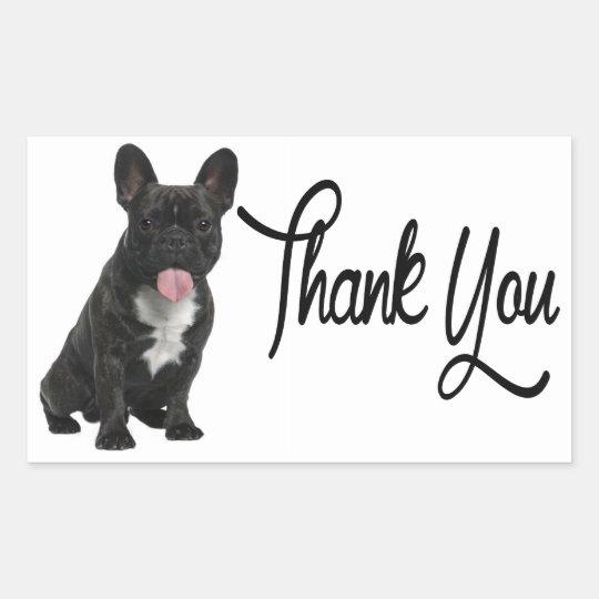 Thank You French Bulldog Puppy Dog Sticker