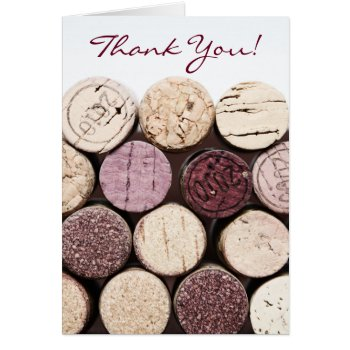 Thank You French Wine Bottle Corks Card by justbecauseiloveyou at Zazzle