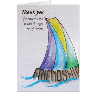 Thank you friend. card