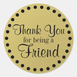 Thank You Friend Classic Round Sticker