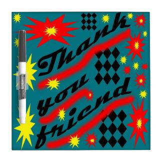 Thank you friend dry erase board