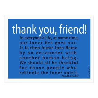 Thank You, Friend! Postcard