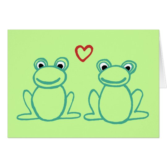 Thank you! - Frogs with Heart Card