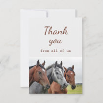 Thank You From All of Us Horses Fun
