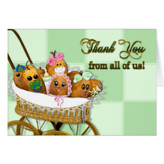 Thank You From All of us! Potato Baby Spuds (Humor Card