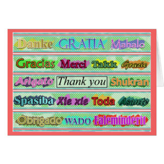 """""""Thank You"""" From Around the World Card"""