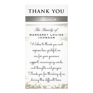 Thank You from Family - Water Glitters Card