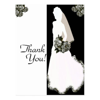 Thank You From the Bride Post Cards Template