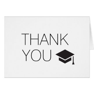 Thank You From The Graduate Card