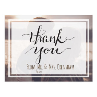 Thank You from the New Mr. and Mrs. Postcard