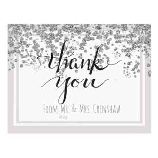 Thank You from the Old Mr. and Mrs. Postcard