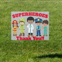 Thank You Front Line Heroes Tribute Yard Sign