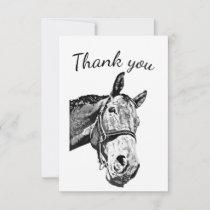 Thank You Fun Curious Horse Farm Animal