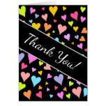 "[ Thumbnail: ""Thank You!""; Fun, Loving, Colorful Hearts Pattern ]"
