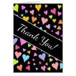 "[ Thumbnail: ""Thank You!""; Fun, Loving, Colorful Hearts Pattern ]"