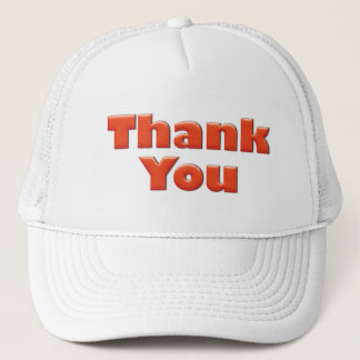 Thank you fun red text greeting trucker hat