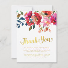 Thank You Funeral Note | Memorial Floral