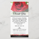 """Thank You Funeral Red Rose - Words Cannot Express<br><div class=""""desc"""">Thank You Funeral Red Rose - Words Cannot Express  Customize with Your Text Julie Alvarez Designs JULIEAGIFTS.COM</div>"""