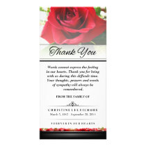 Thank You Funeral Red Rose - Words Cannot Express Card