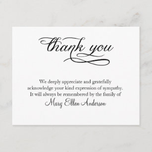 Black And White Thank You Cards Zazzle