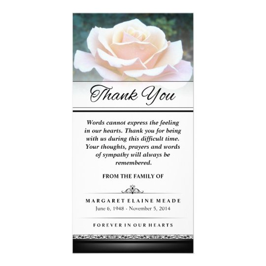 Thank You Funeral White Rose Words Cannot Express Card – Funeral Words for Cards