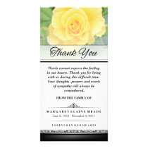 Thank You Funeral Yellow Rose Words Cannot Express Card