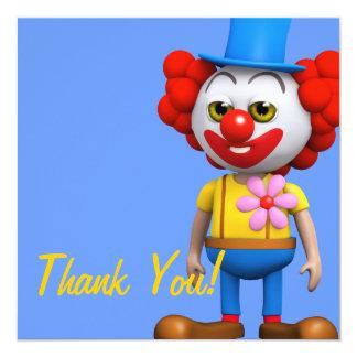 Thank You! Funny Clown Thankyou Card