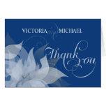 Thank You - Garden Wedding Fancy Script Cards