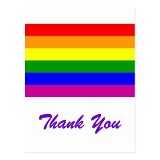 Thank You/ Gay Rainbow Wedding Postcard