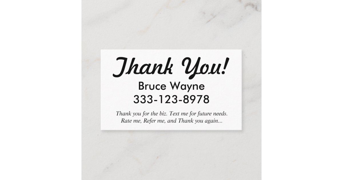 Thank You! generic ride share business cards | Zazzle.com