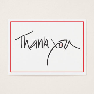 Thank you gift cards in black and red