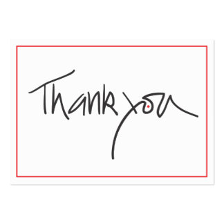 Thank you gift cards in black and red business card templates
