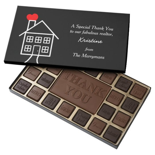 Thank You Gift for Realtor - Chocolate Box | Zazzle.com
