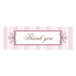 THANK YOU GIFT TAG :: paris stripe Double-Sided Mini Business Cards (Pack Of 20)