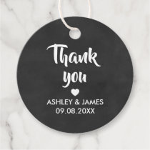 Thank You Gift Tags, Wedding Thank You Chalkboard Favor Tags