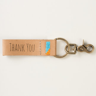 Thank You Gift   Thoughtful Thanks Typography Keychain