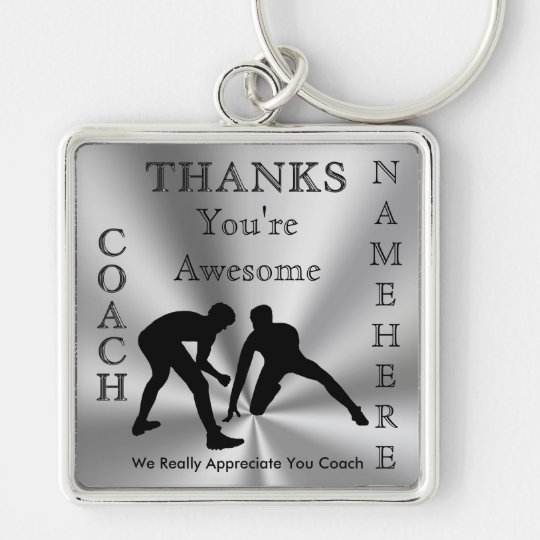 thank you gifts for wrestling coaches personalized keychain