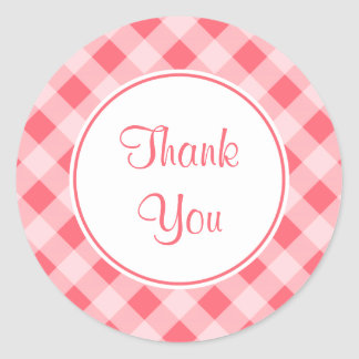 Thank You Gingham Kitchen Stickers