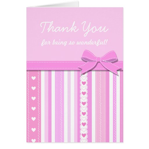 thank you girl baby shower gift greeting card zazzle