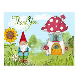 Thank You Gnome Postcard