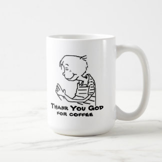 THANK YOU GOD  FOR COFFEE CLASSIC WHITE COFFEE MUG
