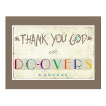 Thank You God for Do-Overs Postcard