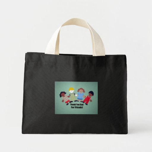 Thank You God For Friends Canvas Bag