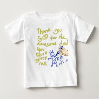 Thank You God for my Father (for boys) Baby T-Shirt
