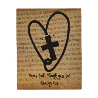 Thank you God with Bible Print